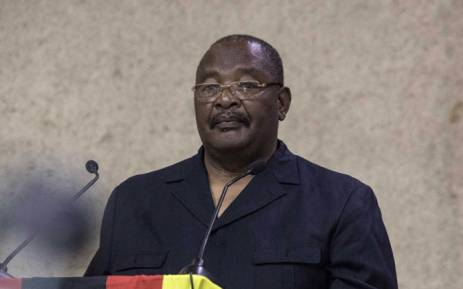 Zimbabwe's Home Affairs Minister Obert Mpofu on 19 November 2017. Picture: AFP