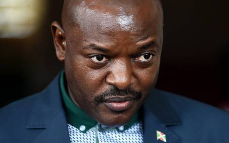 FILE: Burundi's President Pierre Nkurunziza stands at the Presidential office in Bujumbura on 17 May 2015. Picture: AFP.