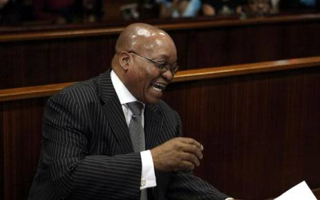 FILE: Jacob Zuma addresses the Durban High Court on 7 April 2009 after prosecutors withdrew fraud and corruption charges against him. Picture: AFP