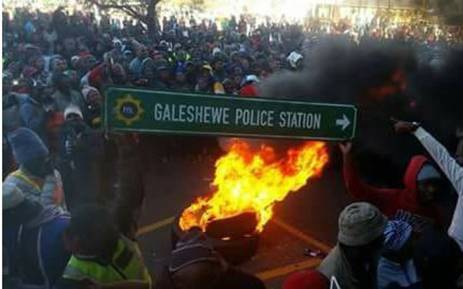 Violent protests erupted in Kimberly, Northern Cape, on 12 July 2018. Picture: Supplied.