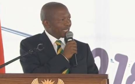 A screengrab of Deputy President David Mabuza addressing the Human Rights Day commemoration in Sharpeville on 21 March 2018.