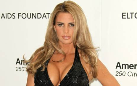 Model Katie Price arrives at the 19th Annual Elton John AIDS Foundation's Oscar viewing party held at the Pacific Design Center on February 27, 2011 in West Hollywood, California. Picture: AFP
