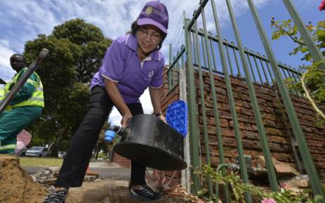 FILE: Cape Town Mayor Patricia de Lille seen on Sunday, 3 December 2017, as the city installed water management devices at properties amid a drought. Picture: @PatriciaDeLille/Twitter.