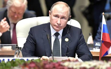 Russian President Vladimir Putin at the 10th BRICS Summit held in Sandton, Johannesburg. Picture: @EmbassyofRussia/Twitter
