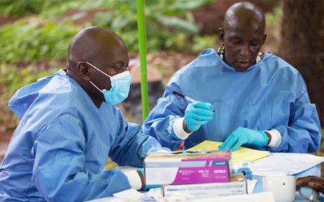 Health workers  who facilitate Ebola vaccinations. Picture: WHO