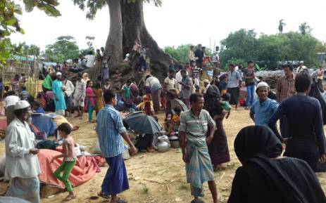 Rohingya people find refuge at Kutupalong refugee camp near the town of Ukhia in Bangladesh's Cox's Bazar district on 29 August, 2017. Picture: AFP