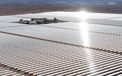 FILE: An aerial view of the solar mirrors at the Noor 1 Concentrated Solar Power (CSP) plant, some 20km (12.5 miles) outside the central Moroccan town of Ouarzazate. Picture: AFP