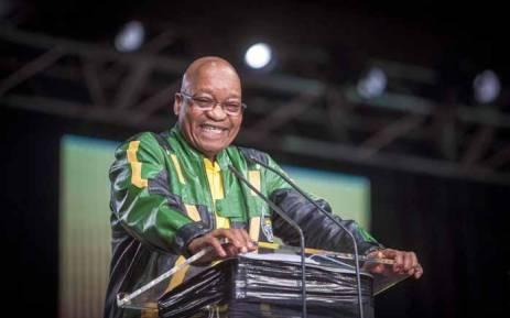 Pres Jacob Zuma makes his address at the final plenary on 5 July 2017. Picture: Thomas Holder/EWN