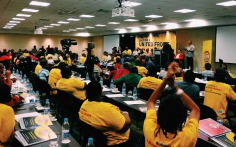 Day two of Numsa people's assembly began with a discussion on the purpose of the United Front. Picture: Emily Corke/EWN