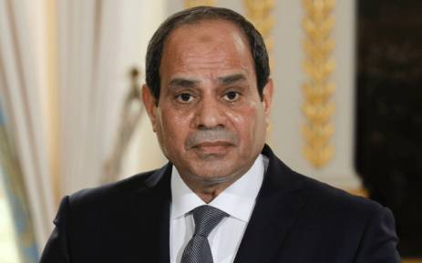 This file photo taken on 24 October 2017 shows Egypt's President Abdel Fattah al-Sisi looking on during a press conference at the Elysee Palace in Paris. Sisi announced on January 19, 2018, that he will be a candidate in the presidential election due to take place in March. Picture: AFP.