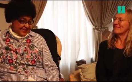 A screengrab from a HuffPost South Africa interview with Winnie Madikizela-Mandela. Picture: Twitter