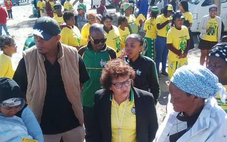 ANC deputy secretary general Jesse Duarte interacts with community members from De Doorns on 10 August 2018. Picture:: @MYANC/Twitter