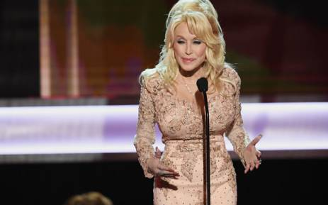 Singer/actor Dolly Parton speaks onstage during The 23rd Annual Screen Actors Guild Awards at The Shrine Auditorium on January 29, 2017 in Los Angeles, California. Picture: AFP.