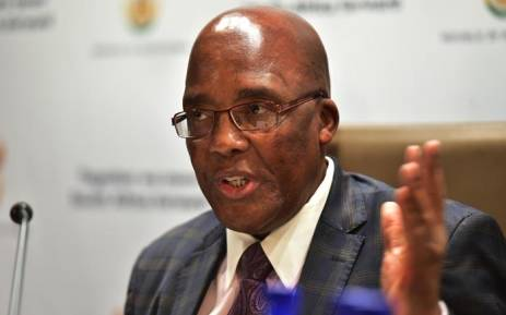 FILE: Minister of Health Aaron Motsoaledi briefs the media on 5 June 2018 on the status of healthcare in the country. Picture: GCIS.