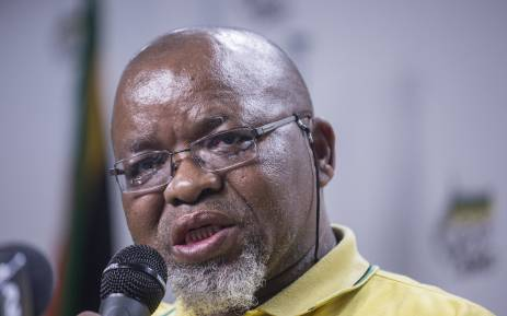 FILE: Gwede Mantashe addresses the media during a press briefing at Luthuli House in Johannesburg. Picture: Ihsaan Haffejee/EWN