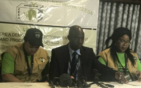 The Zimbabwe Election Support Network (ZESN) released its preliminary findings in Harare on the country's elections on Tuesday 31 July 2018. Picture: Masechaba Sefularo/EWN