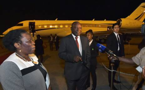 Deputy President Cyril Ramaphosa arrives at Tokyo International Airport in Tokyo, Japan. Picture: GCIS.