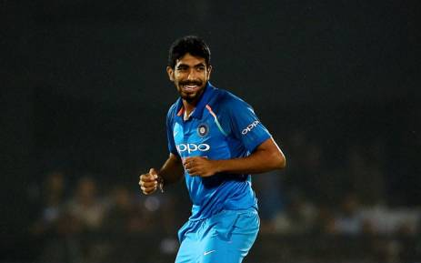 FILE: Indian cricketer Jasprit Bumrah celebrates the wicket of New Zealand cricketer Ross Taylor during the third One day international (ODI) cricket match between India and New Zealand at the Green Park Cricket Stadium in Kanpur on October 29, 2017. Picture: AFP.