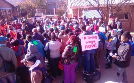 FILE: Footwear workers in Western Cape participating in the national footwear sector strike. Picture: @SACTWU/Twitter