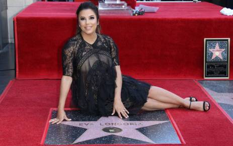 US actress Eva Longoria poses with her star on the Hollywood Walk of Fame. Picture: @EvaLongoria/Twitter