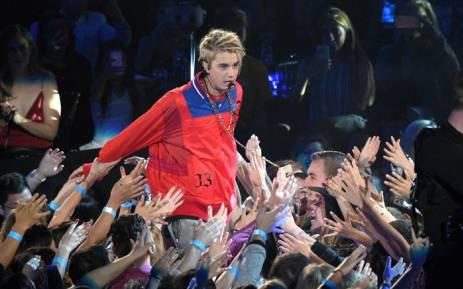 Recording artist Justin Bieber. Picture: AFP