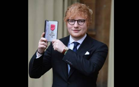 Singer and songwriter Ed Sheeran receives an MBE at the Buckingham Palace in London on 7 December 2017. Picture: Twitter.