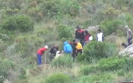 A concerned Hout Bay resident filmed what appears to be a group of boys organising in a dog fight in Hangberg. Picture: EWN.