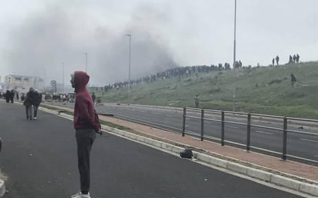 Residents of Zwelihle near Hermanus protest on 12 July 2018. Picture: Monique Mortlock/EWN.