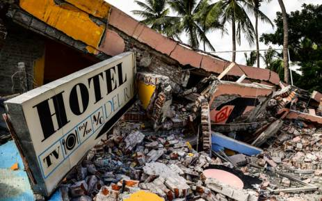 A collapsed hotel in Juchitan de Zaragoza, Oaxaca, Mexico following an 8.2 magnitude earthquake on 8 September, 2017. Picture: AFP.