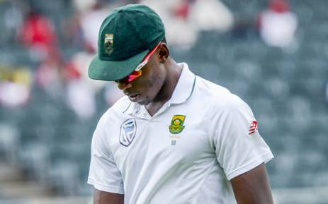SA's most potent wicket-taker Kagiso Rabada. Picture: @OfficialCSA/Twitter.