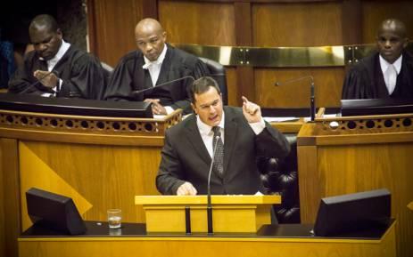 FILE: DA Chief Whip John Steenhuisen in Parliament. Picture: Thomas Holder/EWN.