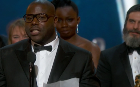 FILE: Steve McQueen receives the Oscar for Best Picture for the film '12 Years A Slave'. Picture: Supplied.