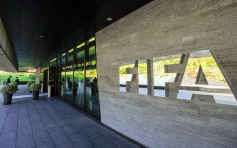 This file photo taken on 3 September 2013 shows the logo of the Fifa (International Federation of Association Football) outside the organisation's headquarters in Zurich. Picture: AFP.