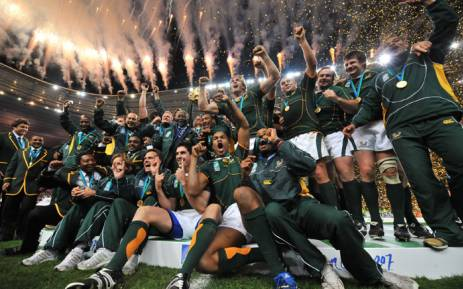 The Springboks celebrate victory in the 2007 Rugby World Cup final. Picture: Supplied