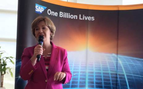 Adaire Fox-Martin, SAP executive board member in charge of global customer operations. Picture: @AdaireFoxMartin/Twitter