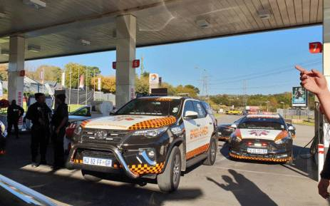 A shooting at the Total Garage on William Nicol in Sandton has left one person dead and another critically injured. Picture: @EMER_G_MED/Twitter.