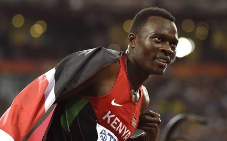 Kenyan middle-distance runner Nicholas Bett. Picture: AFP