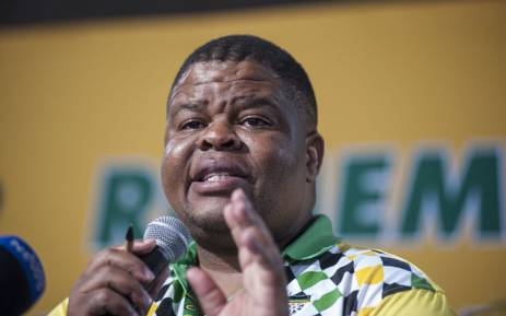 David Mahlobo briefing the media on the outcomes of the Peace and Stability commission at the ANC's elective conference. Picture: Ihsaan Haffejee/EWN.