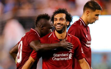 Liverpool forward Mohamed Salah celebrates a goal during a pre-season friendly against Manchester City on 25 July 2018. Picture: @LFC/Twitter