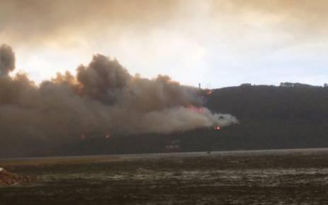 The fire in Knysna. Picture: Richard Wallis/iWitness