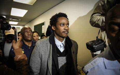 FILE: Duduzane Zuma leaves the court after being granted R100,000 bail on 9 July 2018. Picture: Thomas Holder/EWN.