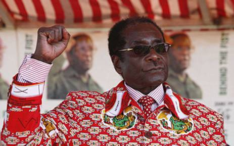 Zimbabwean President Robert Mugabe at a campaign Rally in Harare. Picture: AFP.