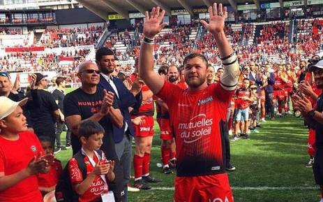 Loose forward Duane Vermeulen during his time with Toulon. Picture: @duane_vermeulen/Twitter