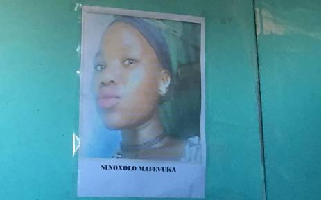 Sinoxolo Mafevuka's body was discovered in a communal toilet in Khayelitsha. Picture: Monique Mortlock/EWN.