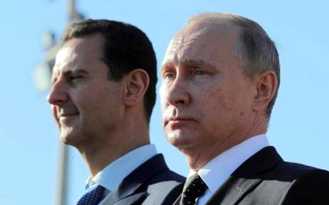 Syrian President Bashar al-Assad and Russian President Vladimir Putin at a meeting in the Black Sea resort of Sochi in Russia on 17 May 2018. Picture: Reuters.