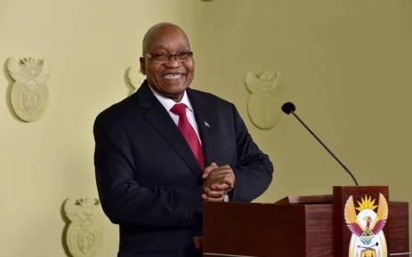 FILE: Jacob Zuma delivering an address on 14 February 2018 in which he announced his resignation as president of South Africa. Picture: GCIS