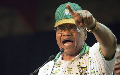 Former ANC President Jacob Zuma sings at the ANC's 54th national conference on 18 December 2017. Picture: Sethembiso Zulu/EWN