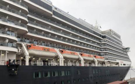 The Queen Elizabeth cruise parked in Cape Town on 23 April 2018. Picture: Graig-Lee Smith/EWN