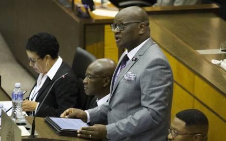FILE: Gauteng Premier David Makhura speaking at the Gauteng Legislature on 26 February 2018. Picture: Sethembiso Zulu/EWN