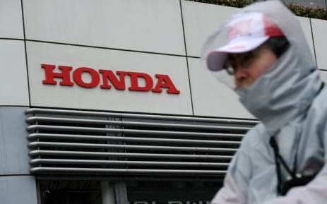 The logo of Japan's Honda Motor Co. is displayed at the company's headquarters in Tokyo on 2 February 2018. Picture: AFP